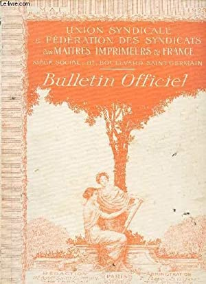BULLETIN OFFICIEL / MAI 1923: COLLECTIF
