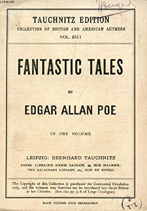 FANTASTIC TALES (COLLECTION OF BRITISH AND AMERICAN AUTHORS, VOL. 4511): POE EDGAR ALLAN