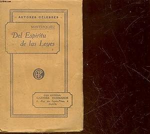 DEL ESPIRITU DE LAS LEYES - TOMO 1: MONTESQUIEU