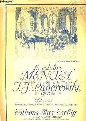 MENUET. OP. 14 Nr 1: I. J. PADEREWSKI