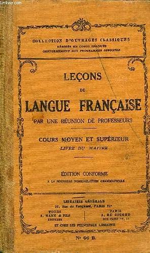 LECONS DE LANGUE FRANCAISE- COURS MOYEN ET: COLLECTIF
