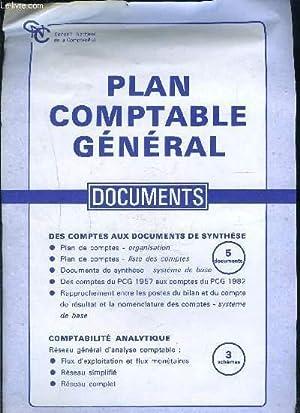 1 POCHETTE: PLAN COMPTABLE GENERAL- DOCUMENTS- Des comptes aux documents de synthèse- ...