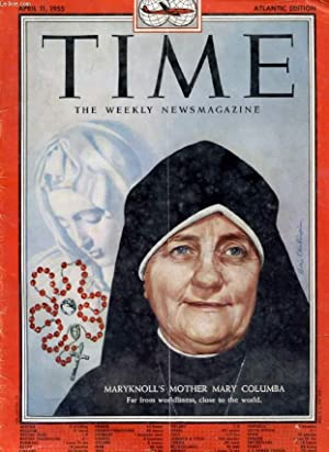 TIME, NEWSMAGAZINE, VOL. LXV, N° 15, APRIL 1955 (Contents: Judgments & Prophecies, Science and ...