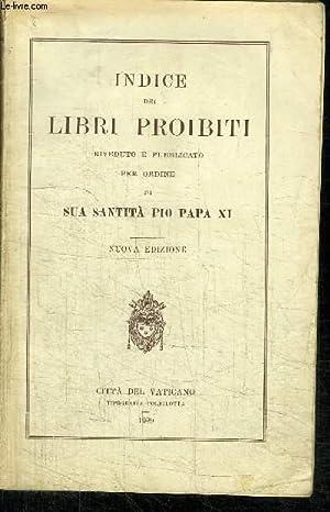 INDICE DEI LIBRI PROIBITI RIVEDUTO E PUBLICATO: COLLECTIF