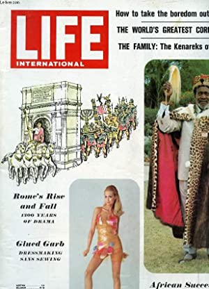 LIFE, INTERNATIONAL EDITION, VOL. 41, N° 5, SEPT. 1966 (Contents: Cover. Rome's rise and fall; ...