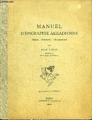 MANUEL DEPIGRAPHIE AKKADIENNE PDF DOWNLOAD