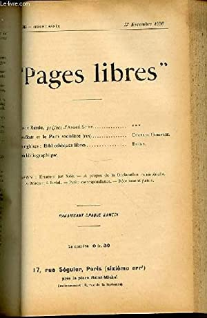 "PAGES LIBRES"" N°307 / SIXIEME ANNEE /: COLLECTIF"