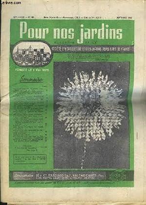 POUR NOS JARDINS N°101 90E ANNEE SEPT. 1966 - en septembre octobre au jardin - au jardin ...