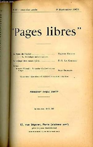 """PAGES LIBRES"""" N°245 / CINQUIEME ANNEE / 9 SEPTEMBRE 1905 - LE REGNE DE L'..."""