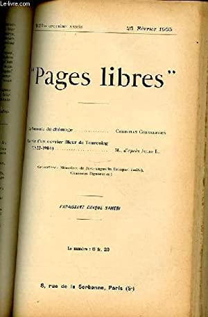 """PAGES LIBRES"""" N°217 / CINQUIEME ANNEE / 25 FEVRIER 1905 - LA FORMULE DU CHOMAGE ..."""