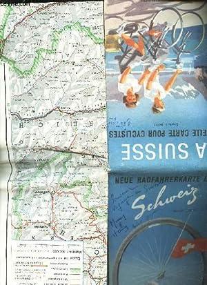 1 CARTE DEPLIANTE EN COULEUR : LA SUISSE - nouvelle carte pour cyclistes / 2chelle 1 : 350 000...