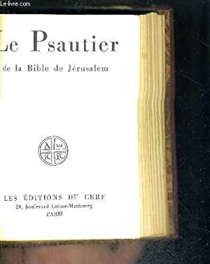 LE PSAUTIER DE LA BIBLE DE JERUSALEM: COLLECTIF