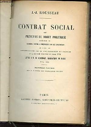 CONTRAT SOCIAL OU PRINCIPES DU DROIT POLITIQUE: ROUSSEAU J.-J.