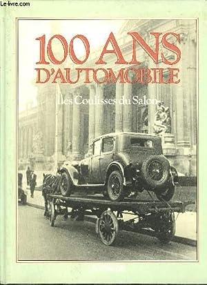 100 ANS D'AUTOMOBILE - LES COULISSES DU SALON: SABATES F.
