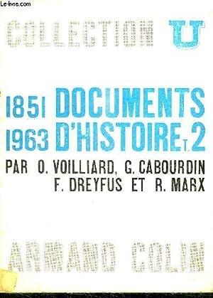DOCUMENTS D'HISTOIRE TOME 2: VOILLIARD / CABOURDIN / DREYFUS / MARX