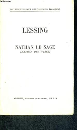 LE SAGE NATHAN - NATHAN DER WEISE: LESSING