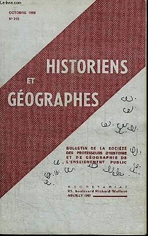 HISTORIENS ET GEOGRAPHES N°213 - Problèmes d'avenir, Bordeaux : la région de...