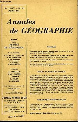ANNALES DE GEOGRAPHIE N°379 - Remarques sur les pluies d'été aux Indes, le ...