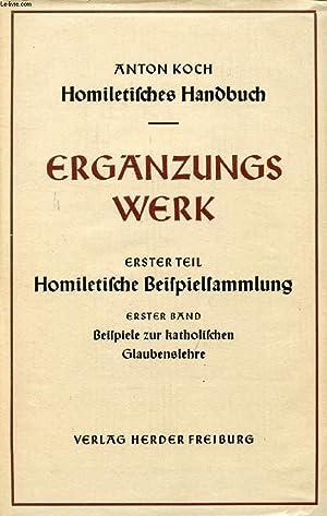 HOMILETISCHES HANDBUCH, ELFTER BAND, ERGÄNZUNGSWERK, ERSTER TEIL, HOMILETISCHES ...