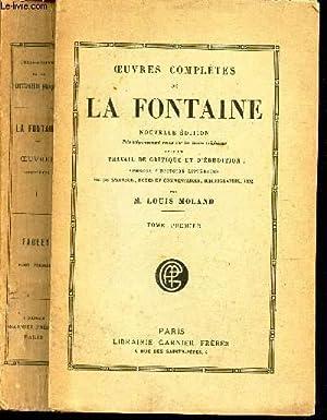 OEUVRES COMPLETES - TOME PREMIER /FABLES LA: DE LA FONTAINE