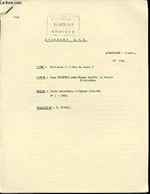 DOCUMENT I.N.S. N°438 : ATHLETISME (PERCHE) -: SCHUSTER IVAN