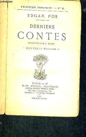 DERNIERS CONTES - NOUVELLE EDITION: POE EDGAR