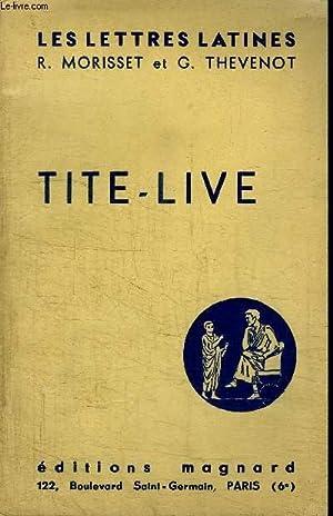 TITE-LIVE: MORISSET R. / THEVENOT G.