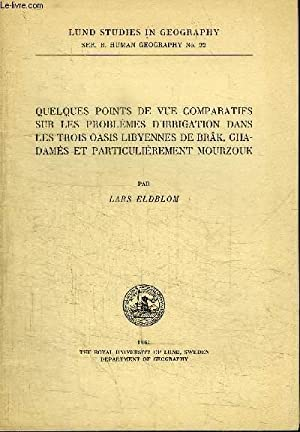 LUND STUDIES IN GEOGRAPHY N° 22 -: ELDBLOM LARS