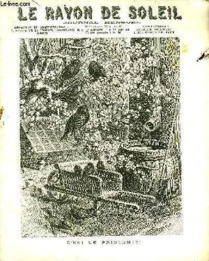 JOURNAL MENSUEL LE RAYON DE SOLEIL 34EME ANNEE N°4 AVRIL 1907 - C'EST LE PRINTEMPS ! - ...