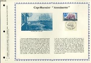 """FEUILLET ARTISTIQUE PHILATELIQUE - PAC - 71 - 13 - CAP-HORNIER """"ANTOINETTE"""": COLLECTIF"""