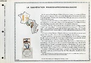 FEUILLET ARTISTIQUE PHILATELIQUE - PAC - LA COOPERATION FRANCO-AFRICAINE-MALGACHE: COLLECTIF