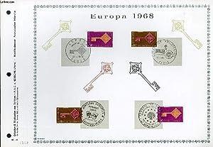 FEUILLET ARTISTIQUE PHILATELIQUE - PAC - 68 - 09 - EUROPA 1968: COLLECTIF