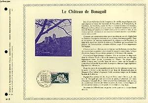 FEUILLET ARTISTIQUE PHILATELIQUE - PAC - 76 - 22 - LE CHATEAU DE BONAGUIL: COLLECTIF