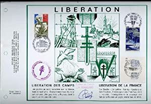 DOCUMENT PHILATELIQUE REALISE A L'OCCASION DU 30°ANNIVERSAIRE DE LA LIBERATION IDEE ET TEXTES DE ...