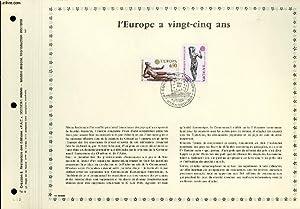 FEUILLET ARTISTIQUE PHILATELIQUE - PAC - 74 - 09 - L'EUROPE A 25 ANS: COLLECTIF