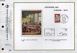 FEUILLET ARTISTIQUE PHILATELIQUE - CEF - JOURNEE DU TIMBRE 1974: COLLECTIF
