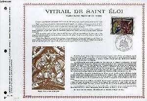 FEUILLET ARTISTIQUE PHILATELIQUE - PAC - 67 - 20 - VITRAIL DE SAINT ELOI (EGLISE SAINTE MADELEINE ...