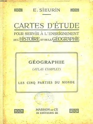 CARTES D'ETUDE POUR SERVIR A L'ENSEIGNEMENT DE L'HISTOIRE ET DE LA GEOGRAPHIE. ...