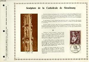 FEUILLET ARTISTIQUE PHILATELIQUE - PAC - 71 - 03 - SCULPTURE DE LA CATHEDRALE DE STRASBOURG: ...