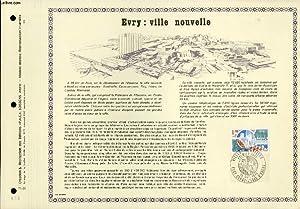 FEUILLET ARTISTIQUE PHILATELIQUE - PAC - 75 - 26 - EVRY : VILLE NOUVELLE: COLLECTIF