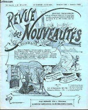 REVUE DES NOUVEAUTES N°87 ET N°88 /: COLLECTIF