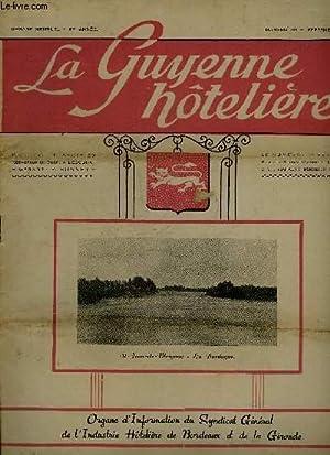 LA GUYENNE HOTELIERE N° 39 Mise en vente pneumatiques - salut à Saint Emilion - Dordogne...