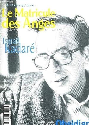 LE MATRICULE DES ANGES - JANVIER -: COLLECTIF