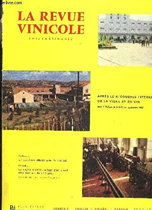 LA REVUE VINICOLE INTERNATIONALE N° 109 LES VINS DE BANDOL .THE WINES OF BANDOLDIE WEINE VON ...
