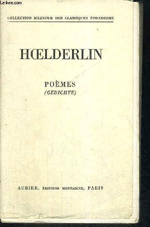 POEMES: HOELDERLIN