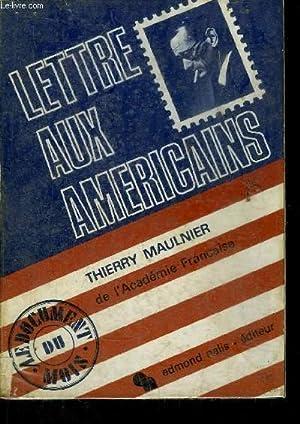 LETTRE AUX AMERICAINS: MAULINIER THIERRY