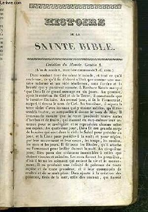 HISTOIRE DE SAINTE BIBLE: ROYAUMONT