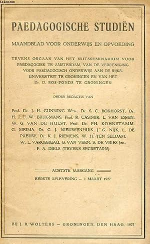 PAEDAGOGISCHE STUDIËN, ACHTSTE JAARG., EERSTE AFLEVERING, MAART: COLLECTIF