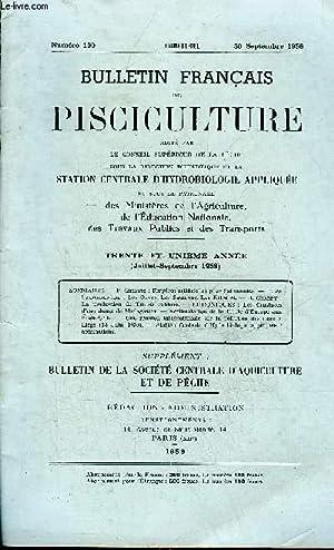 BULLETIN FRANCAIS DE PISCICULTURE N°190 SEPT 1958 - Frayères artificielles pour salmonid...