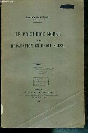 LE PREJUDICE MORAL ET SA REPARATION EN: KARDICALI MUSTAFA